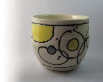 Small 'Planets' series vase, can be used as vase for fresh flowers or as flower pot ($20)