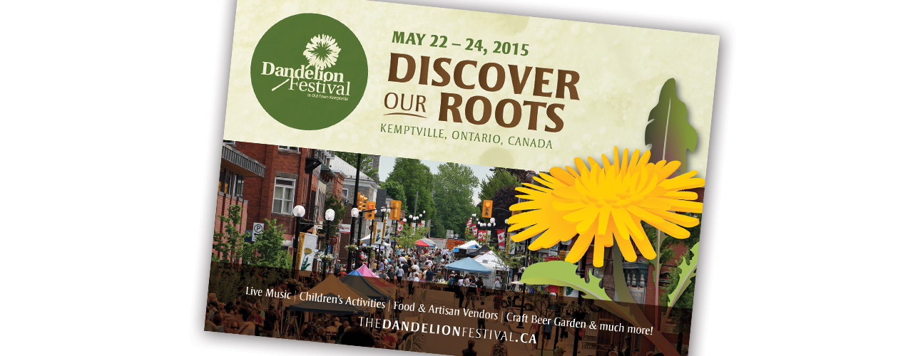 Postcard design (client: The Dandelion Festival)