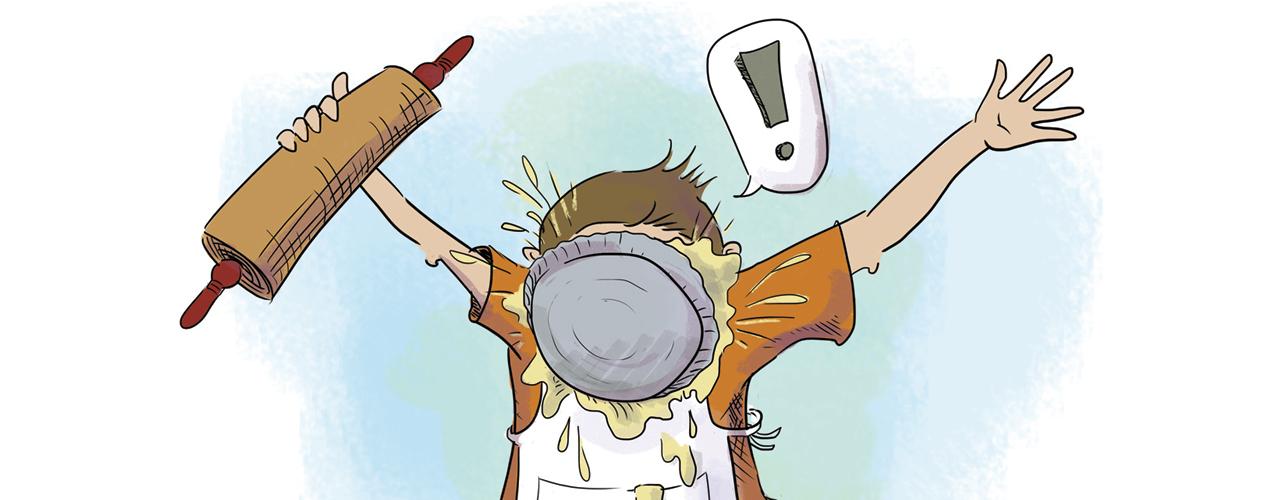 Pie Toss (illustration)