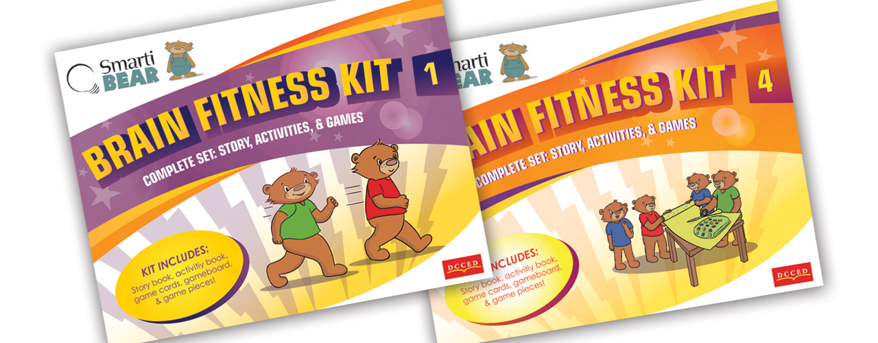 SmartiBear Brain Fitness Kit covers (client: DC Canada)